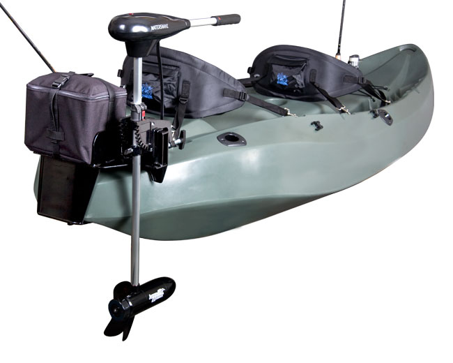 Motor on Lifetime Kayak